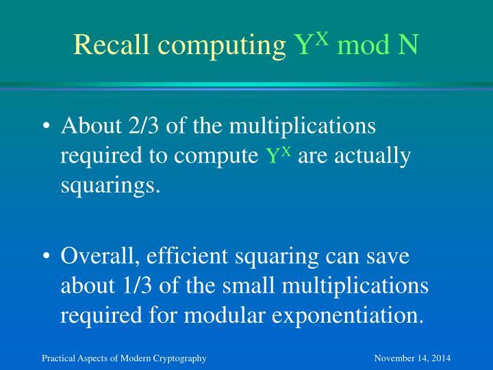 Recall computing