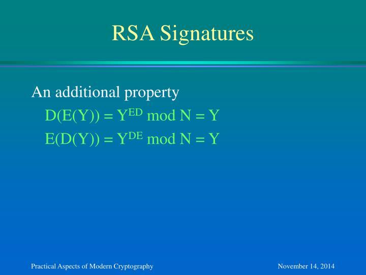 RSA Signatures