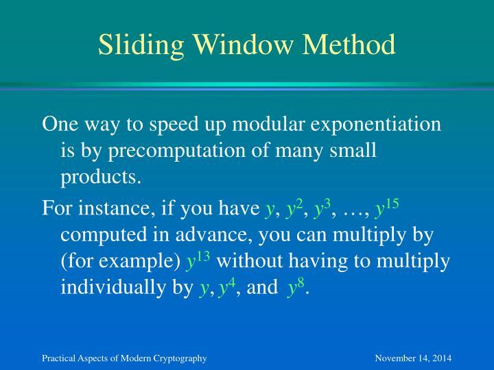 Sliding Window Method