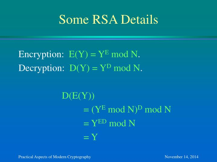 Some RSA Details