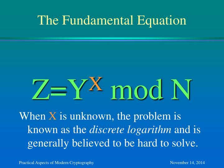 The Fundamental Equation