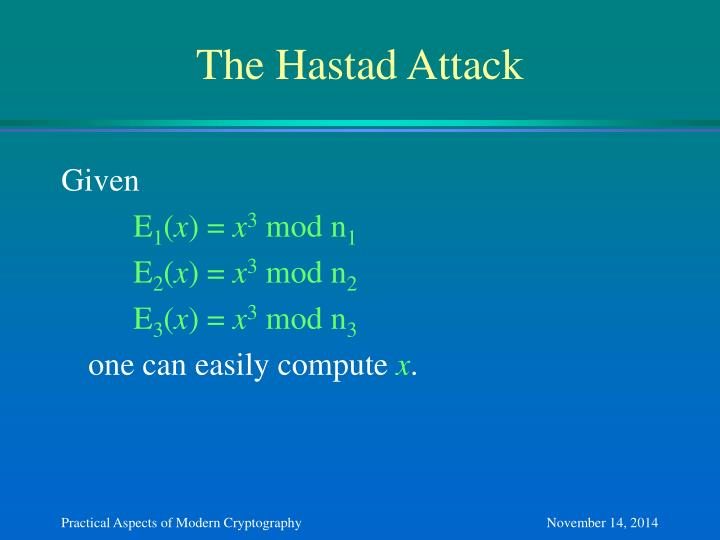 The Hastad Attack