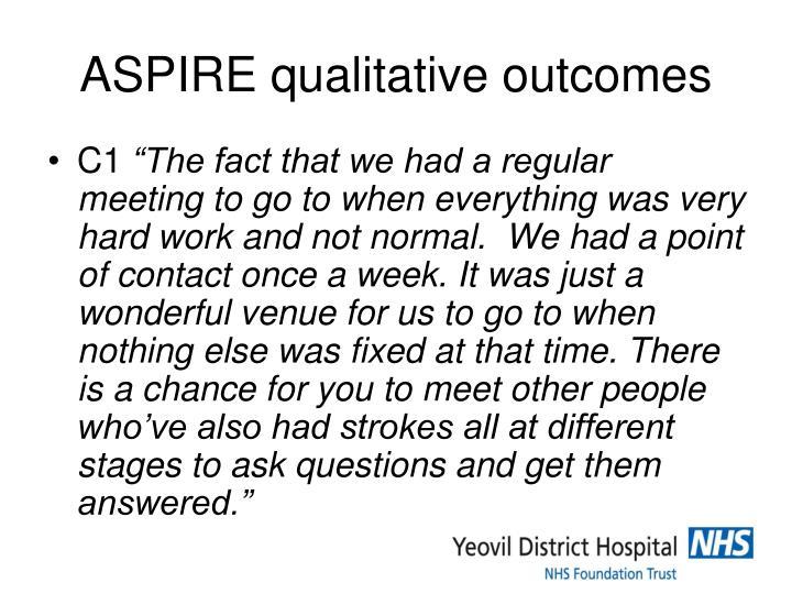 ASPIRE qualitative outcomes