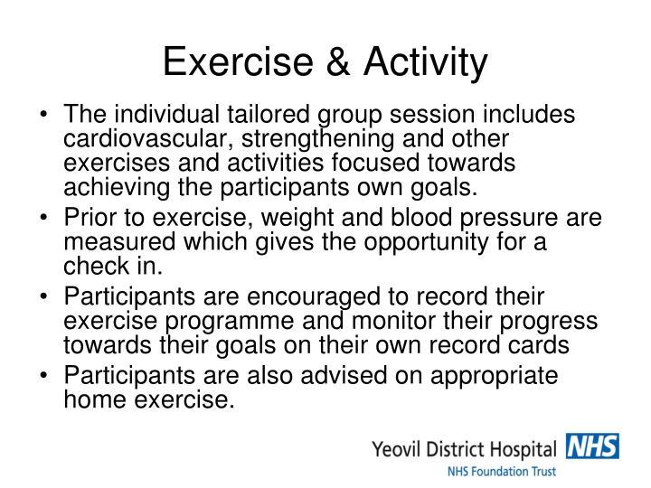 Exercise & Activity