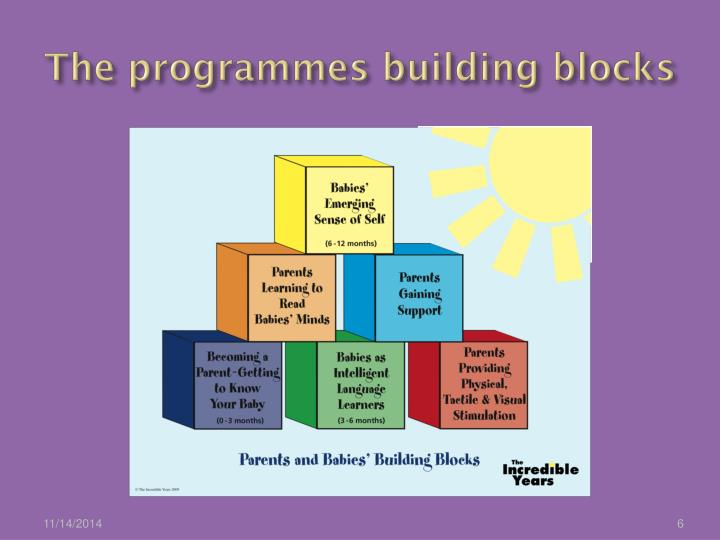 The programmes building blocks