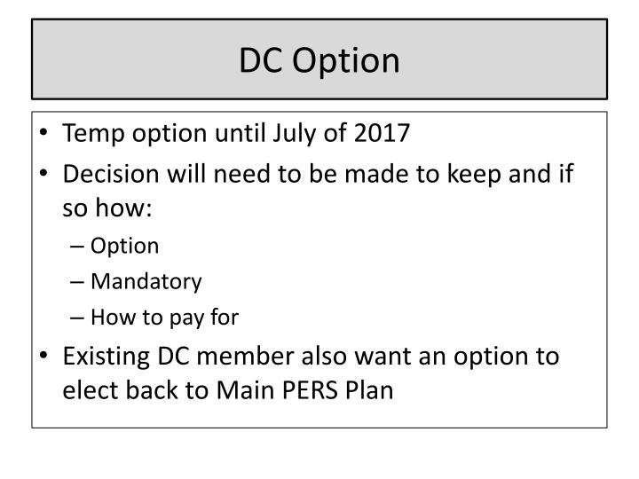 DC Option