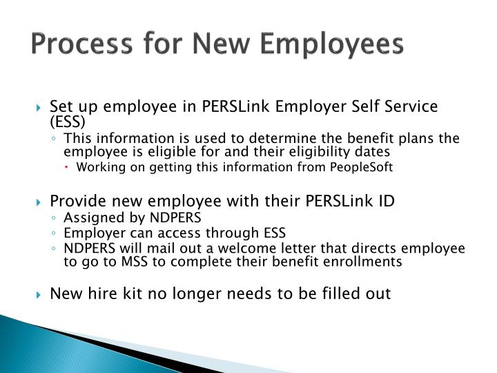 Process for New Employees
