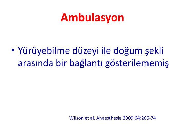Ambulasyon