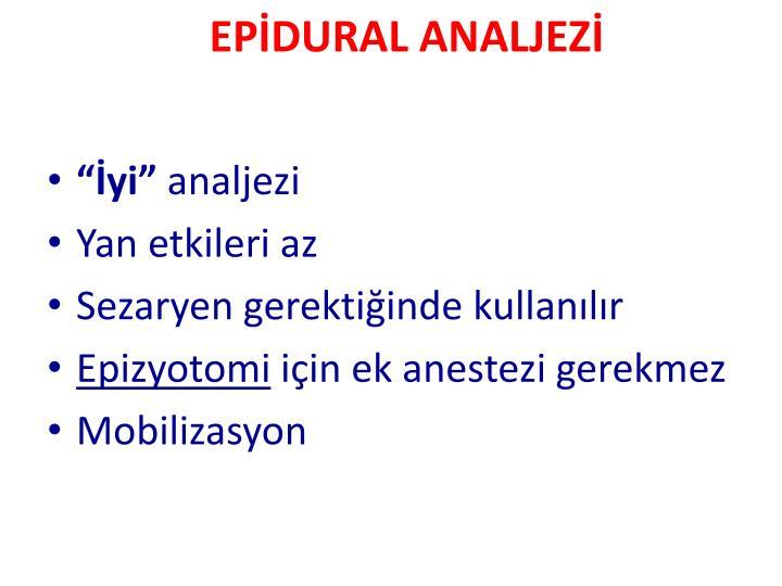 EPİDURAL ANALJEZİ