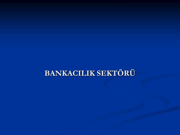 BANKACILIK SEKTÖRÜ