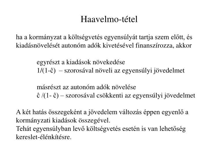 Haavelmo-tétel