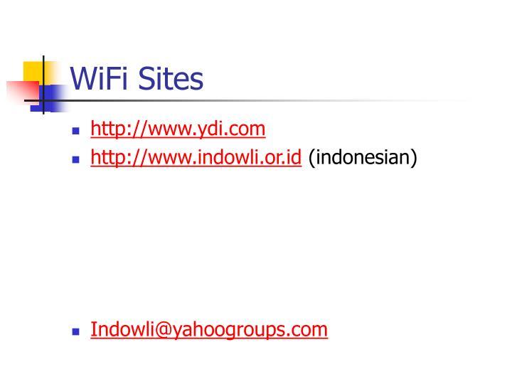 WiFi Sites
