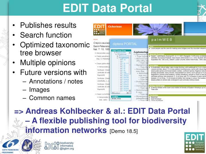 EDIT Data Portal