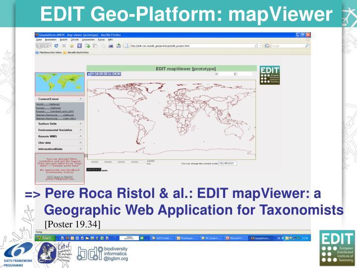 EDIT Geo-Platform: mapViewer