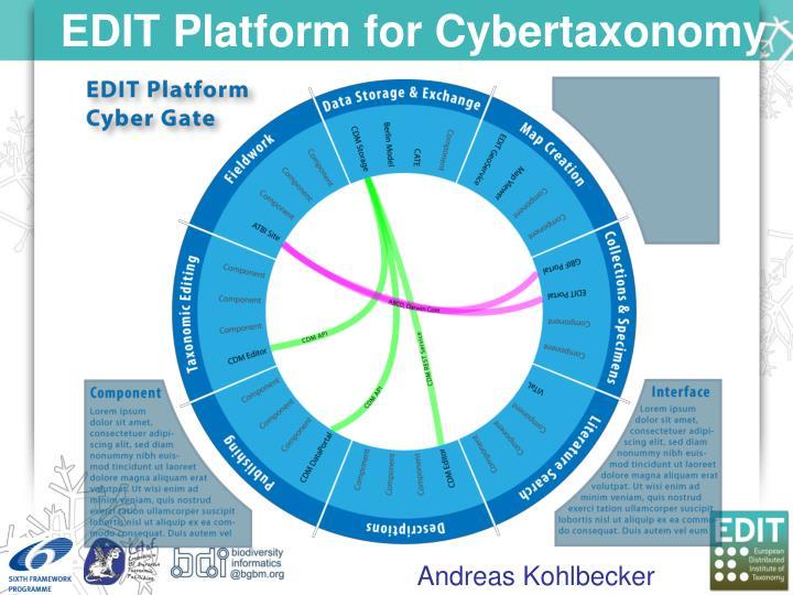EDIT Platform for Cybertaxonomy