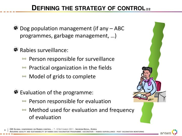 Defining the strategy of control