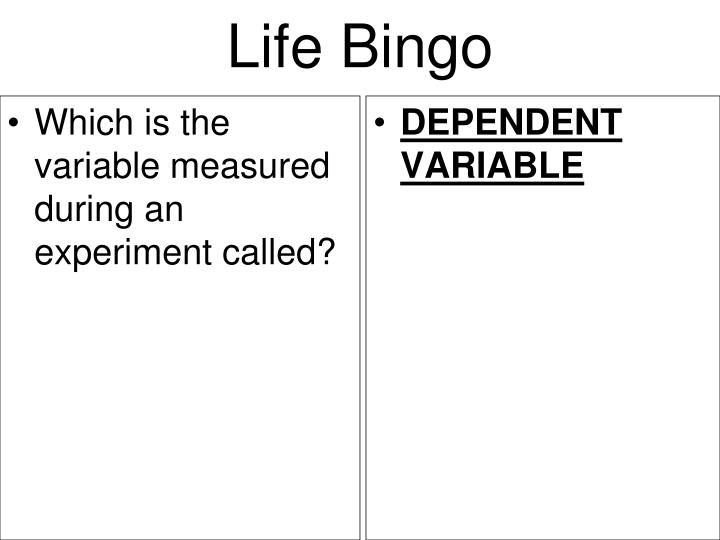 Which is the variable measured during an experiment called?