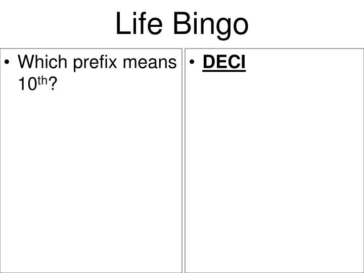 Which prefix means 10