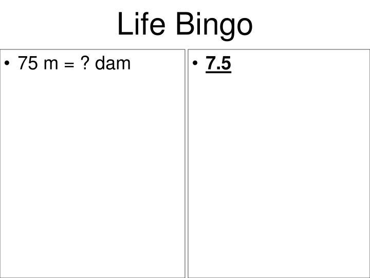 75 m = ? dam
