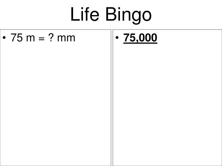 75 m = ? mm