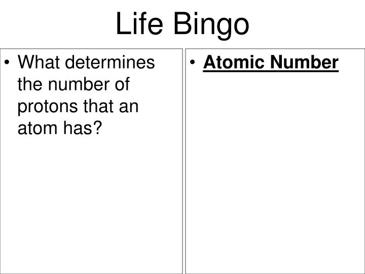 What determines the number of protons that an atom has?
