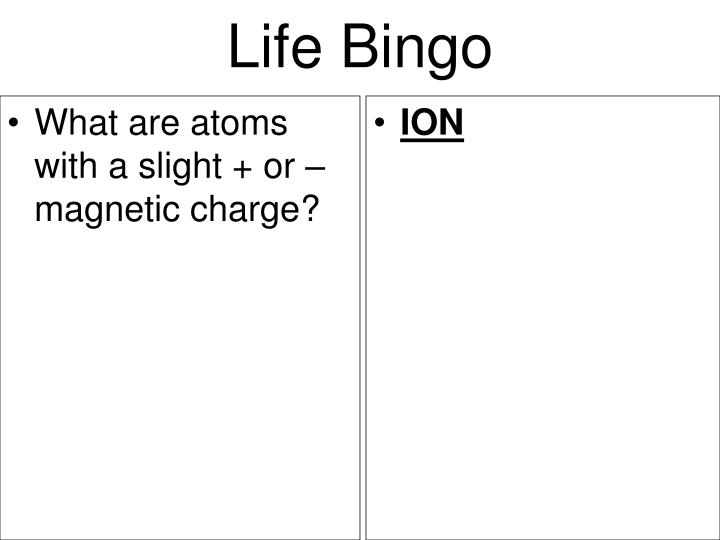 What are atoms with a slight + or – magnetic charge?