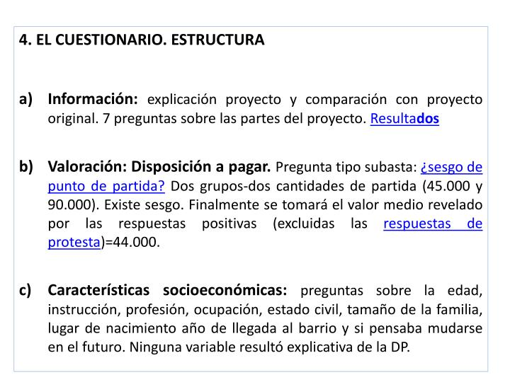 4. EL CUESTIONARIO. ESTRUCTURA