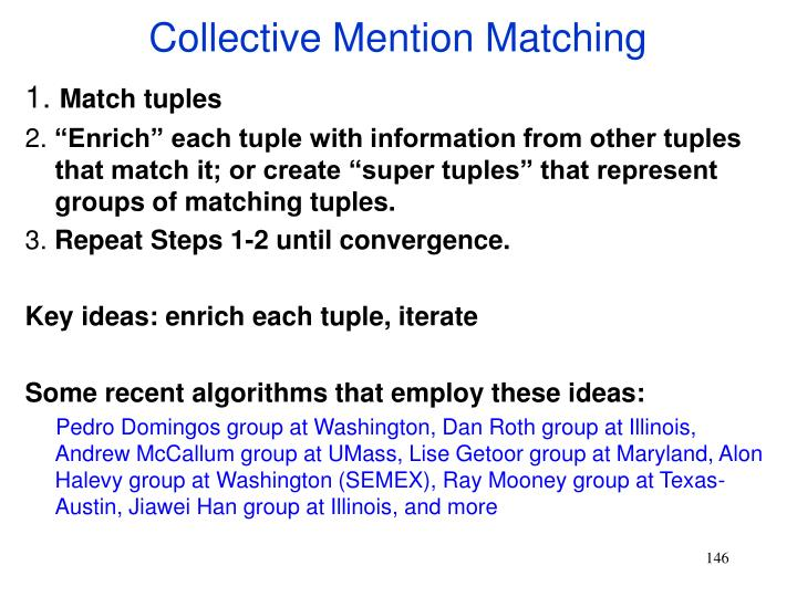 Collective Mention Matching