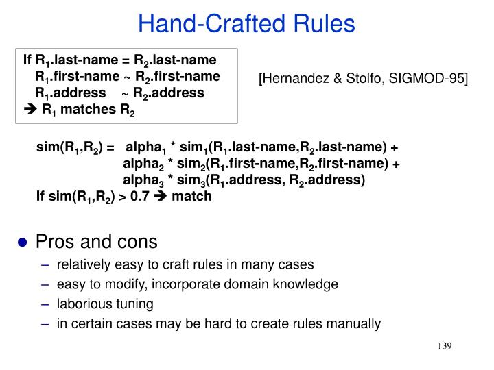 Hand-Crafted Rules