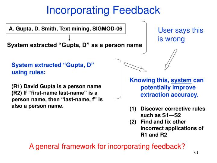 Incorporating Feedback