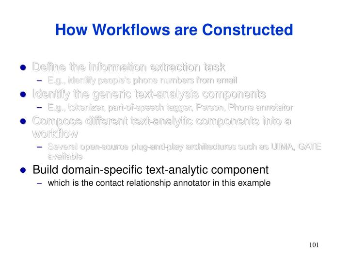 How Workflows are Constructed