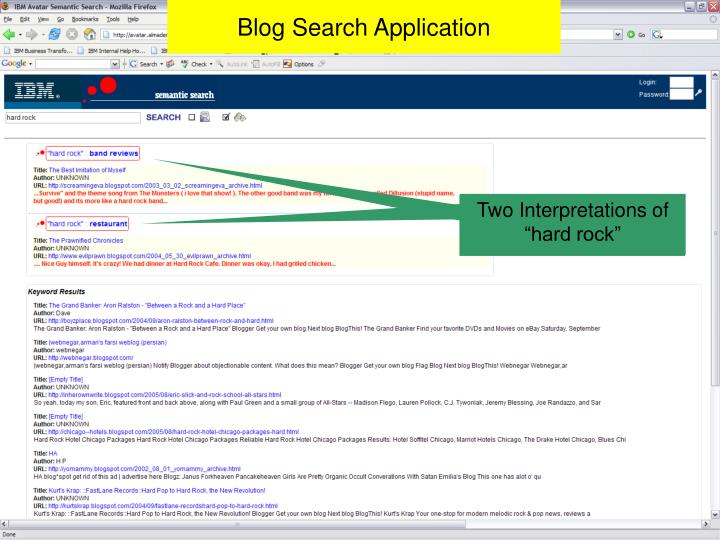 Blog Search Application