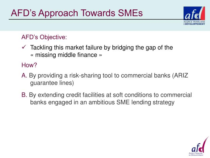 AFD's Approach Towards SMEs