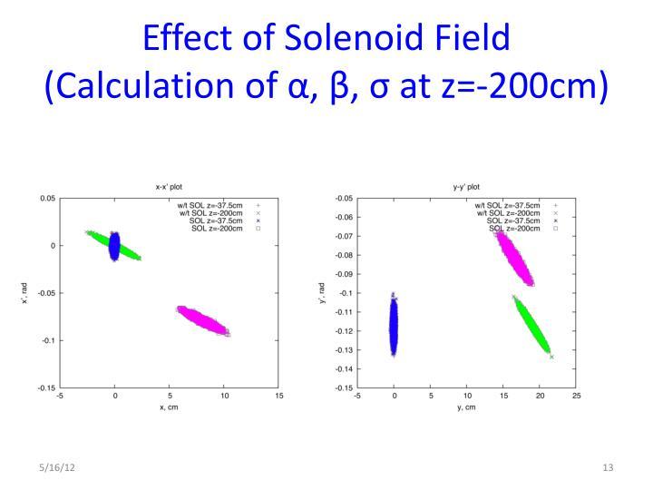 Effect of Solenoid Field