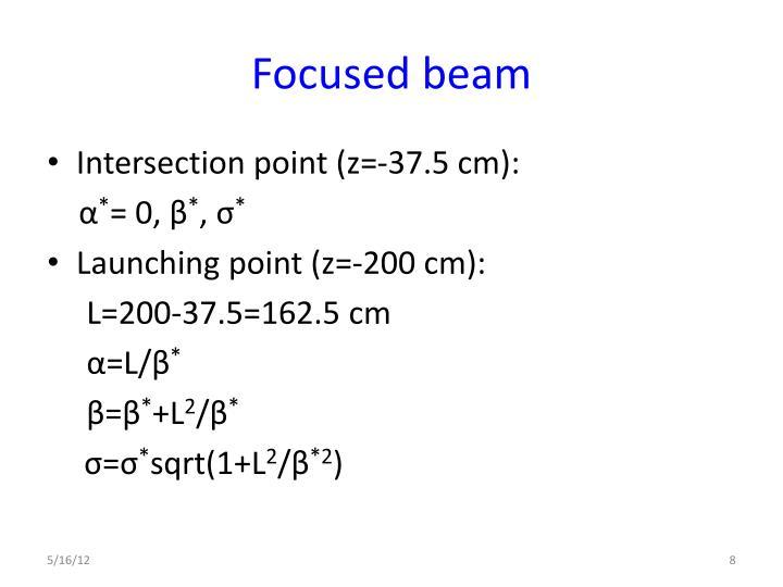 Focused beam