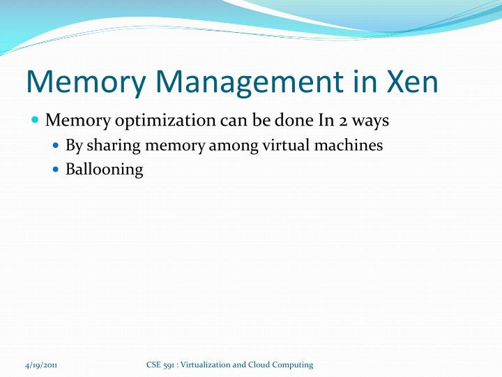 Memory Management in Xen