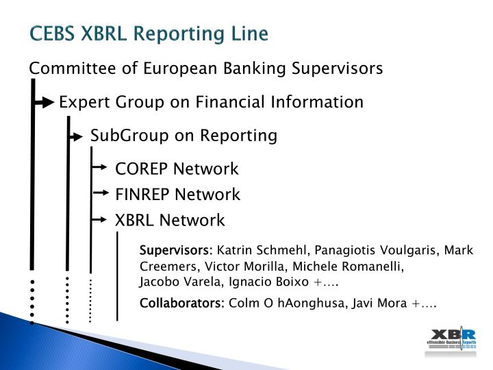 CEBS XBRL Reporting Line