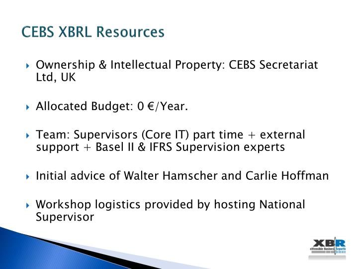 CEBS XBRL Resources