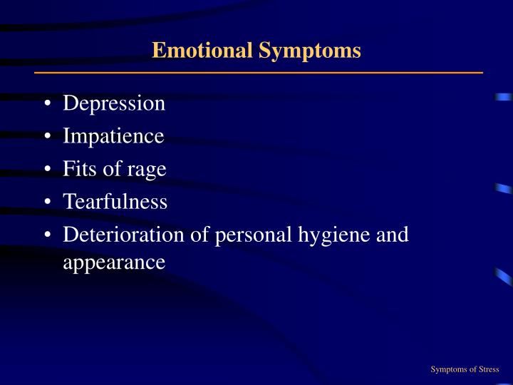 Emotional Symptoms