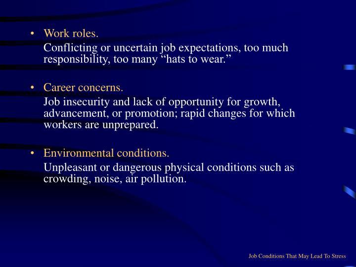Work roles.