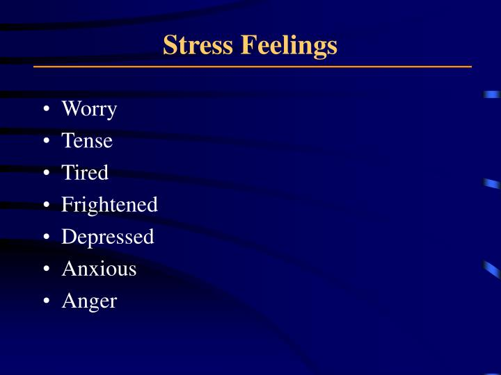 Stress Feelings