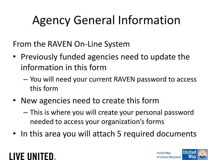 Agency General Information