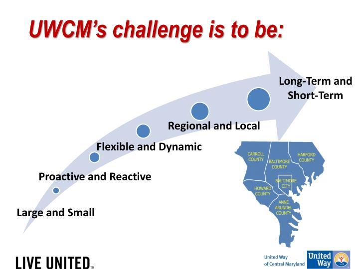 UWCM's challenge is
