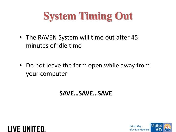 System Timing Out