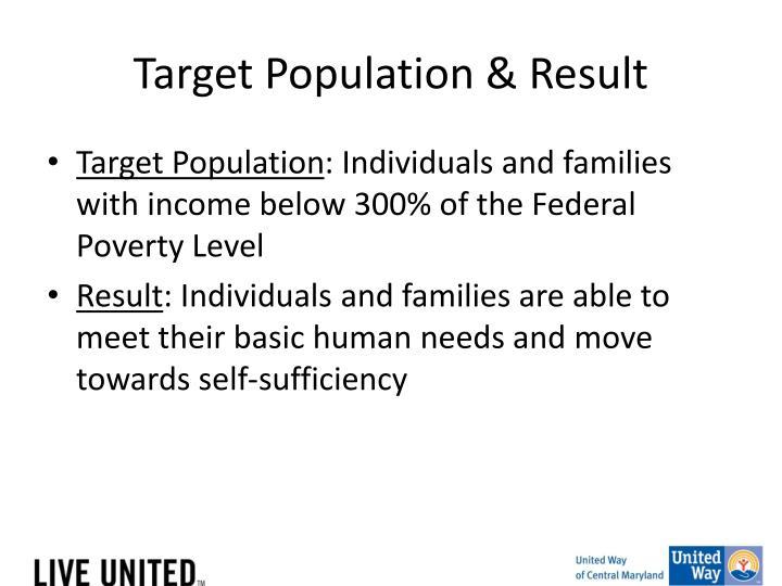 Target Population & Result