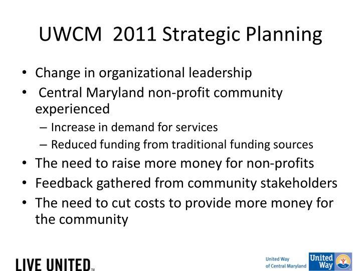 UWCM  2011 Strategic Planning