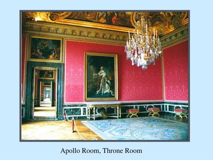Apollo Room, Throne Room