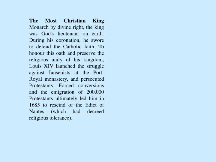 The Most Christian King