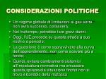 considerazioni politiche