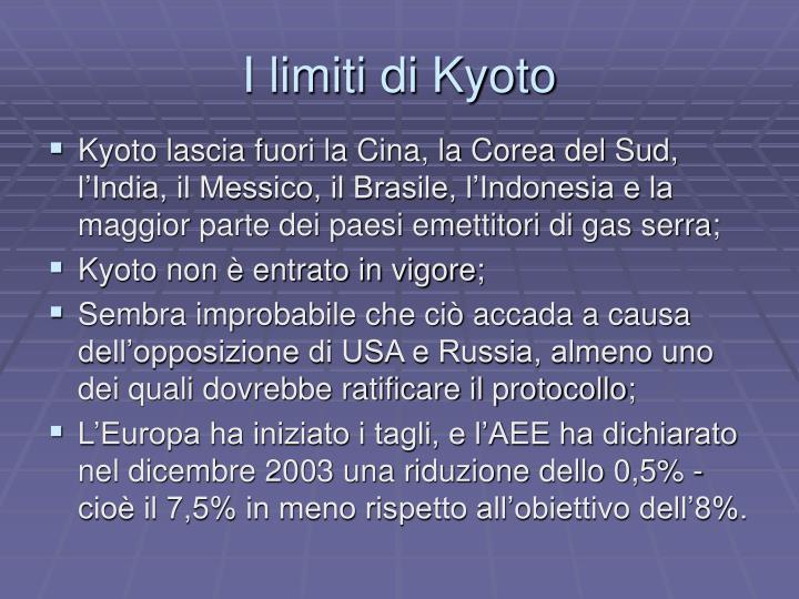 I limiti di Kyoto